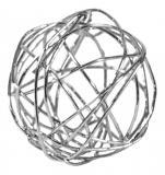 Vánoční koule-stříbrná, 36ks