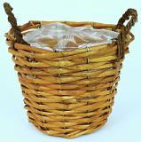 Proutěný košík-hnědá