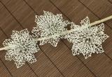 Vánoční květina-stříbrná, 3ks