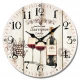 Nástěnné hodiny-sauvignon