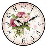 Nástěnné hodiny-kytice