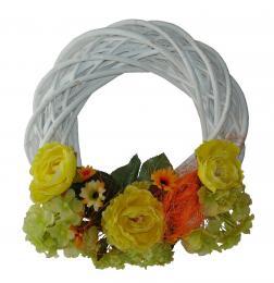 Věnec zdobený-růže a hortenzie - zvětšit obrázek