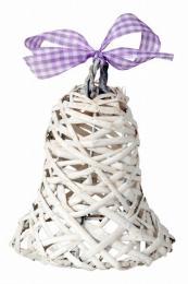Proutěný zvonek-bílá - zvětšit obrázek