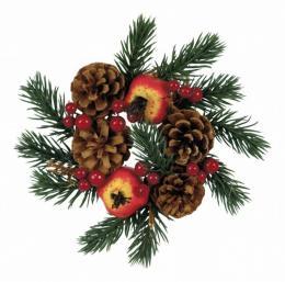 Vánoční věnec-zdobený - zvětšit obrázek
