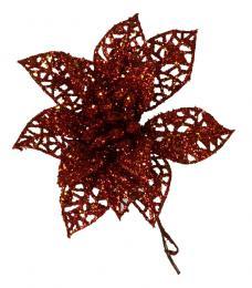 Vánoční růže-červená, 5ks - zvětšit obrázek