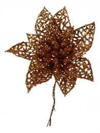 Vánoční růže-měděná, 5ks - zvětšit obrázek