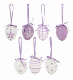 Plastová vejce-sv.fialová, 6ks - zvětšit obrázek