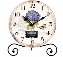 Stolní hodiny-hortenzie - zvětšit obrázek
