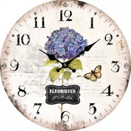 Nástěnné hodiny-hortenzie - zvětšit obrázek