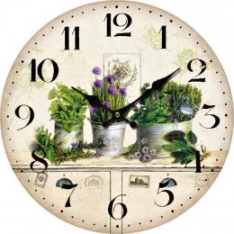 Nástěnné hodiny-zeleň - zvětšit obrázek