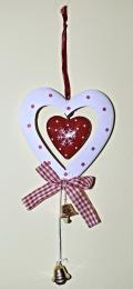 Plastové srdce-bílá - zvětšit obrázek