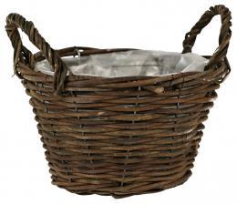 Proutěný košík-tmavě hnědá - zvětšit obrázek