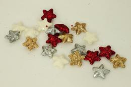 Vánoční hvězdička-mix, 20ks - zvětšit obrázek
