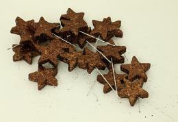 Vánoční hvězdička-hnědá, 20ks - zvětšit obrázek