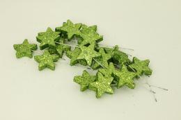 Vánoční hvězdička-zelená, 20ks - zvětšit obrázek