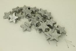 Vánoční hvězdička-stříbrná, 20ks - zvětšit obrázek
