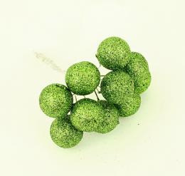 Vánoční kulička-zelená, 10ks - zvětšit obrázek