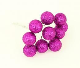 Vánoční kulička-fialová, 10ks - zvětšit obrázek