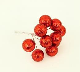 Vánoční kulička-červená, 10ks - zvětšit obrázek