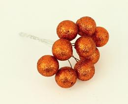 Vánoční kulička-oranžová, 10ks - zvětšit obrázek