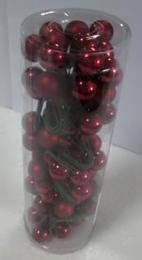 Vánoční skleněná koule-bordó - zvětšit obrázek