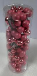 Vánoční skleněná koule-růžová - zvětšit obrázek