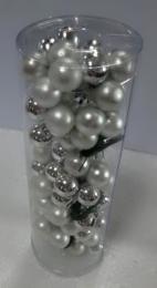 Vánoční skleněná koule-stříbrná - zvětšit obrázek