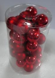 Vánoční skleněná koule-červená - zvětšit obrázek