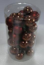 Vánoční skleněná koule-tm.měděná - zvětšit obrázek