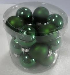 Vánoční skleněná koule-zelená - zvětšit obrázek