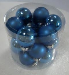 Vánoční skleněná koule-modrá - zvětšit obrázek