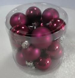 Vánoční skleněná koule-fialová - zvětšit obrázek