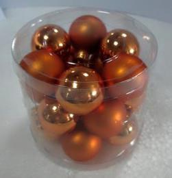 Vánoční skleněná koule-tm.zlatá - zvětšit obrázek