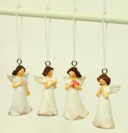 Anděl polyresinový na zavěšení - zvětšit obrázek