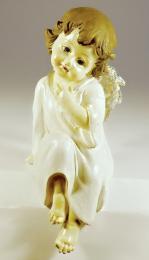 Anděl polyresinový-sedící - zvětšit obrázek