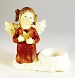 Anděl polyresinový na svíčku - zvětšit obrázek