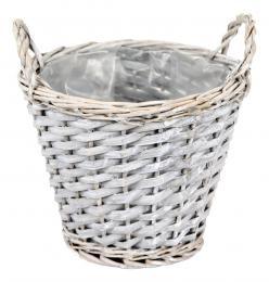 Proutěný košík-šedá - zvětšit obrázek