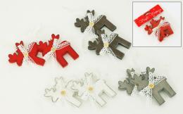 Vánoční dřevěný sob, 2ks - zvětšit obrázek