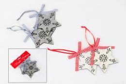 Vánoční dřevěná hvězda, 2ks - zvětšit obrázek