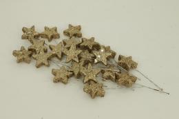 Vánoční hvězdička-zlatá, 20ks - zvětšit obrázek