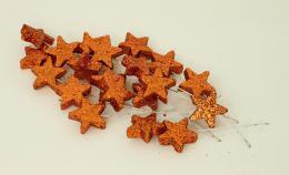 Vánoční hvězdička-oranžová, 20ks - zvětšit obrázek