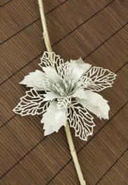Vánoční květina-stříbrná - zvětšit obrázek
