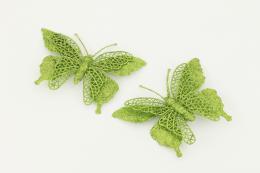 Vánoční motýl-zelená, 2ks - zvětšit obrázek