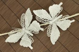 Vánoční motýl-stříbrná, 2ks - zvětšit obrázek