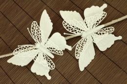 Vánoční motýl-bílá, 2ks - zvětšit obrázek