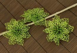 Vánoční květina-zelená, 3ks - zvětšit obrázek