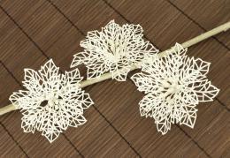 Vánoční květina-bílá, 3ks - zvětšit obrázek