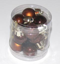 Vánoční plastové koule-hnědá - zvětšit obrázek