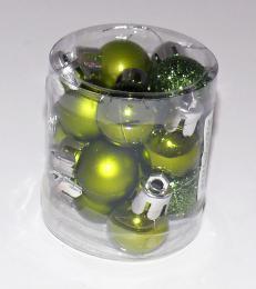 Vánoční plastové koule-zelená - zvětšit obrázek