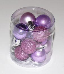 Vánoční plastové koule-fialová - zvětšit obrázek